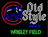 Old Style Walking Cubby Wrigley Field Version Handcrafted Real Glass Neon Light Sign Home Beer Bar Pub Sign 24x20 inches.The Best Offer!Super Bright!