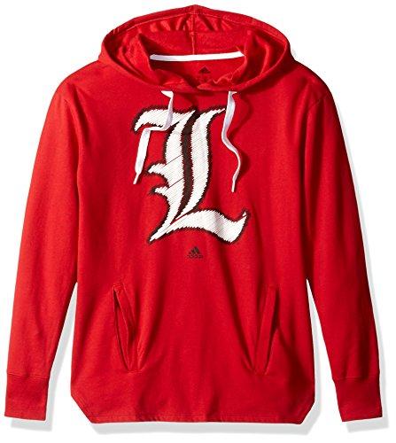 NCAA Louisville Cardinals Adult Women Printed Stitch Logo Fleece Hood, X-Large, Power Red