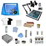 INTBUYING 4 Color 4 Station Screen Printing Kit