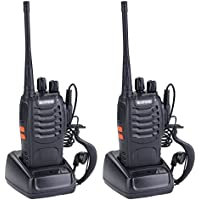 AMRIU BF-888s Two Way Radio Walkie Talkie Long Range UHF 400-470MHz Signal Frequency Single Band 16CH CTCSS/DCS with Built in LED Torch (Pack of 2)