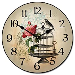 The Big Clock Store Free as a Bird Wall Clock, Available in 8 sizes, Most Sizes Ship 2-3 days, Whisper Quiet.