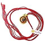 Karmashya Gomthi Chakra Shankh Conch Shell Brass Pendant Charm Amulet Necklace Chain
