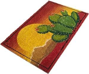 DII Desert Cactus Sunset Coir Doormat with Vinyl Back