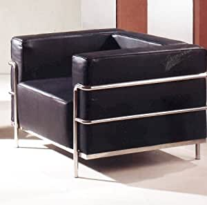 Contemporary Modern Furniture Le Corbusier Black Leather Chair Living Room Kitchen