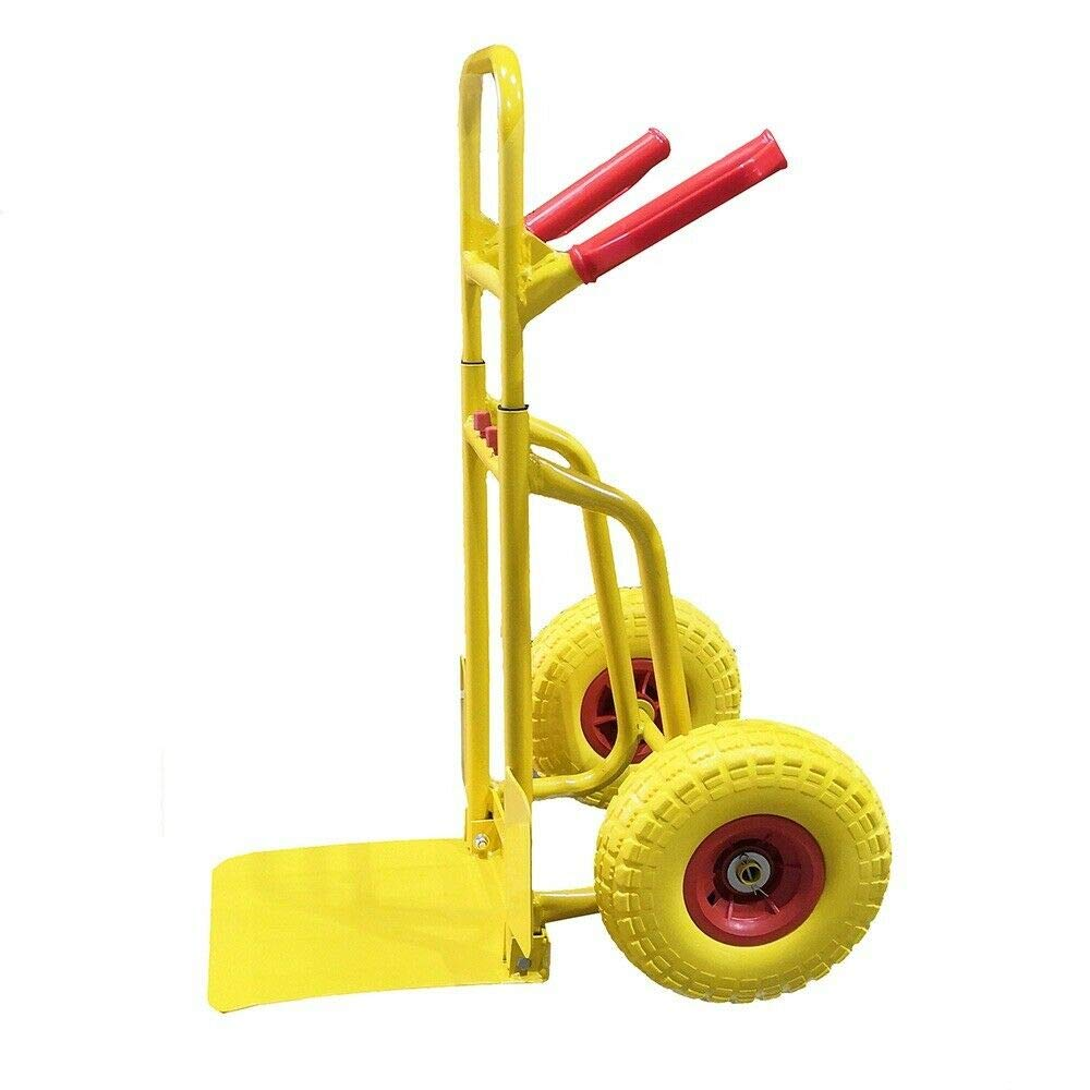 TMZ/® Hand Trolley Stair Climber Sack Barrow Truck Cart PU Wheel 200KG Black /& Yellow Yellow