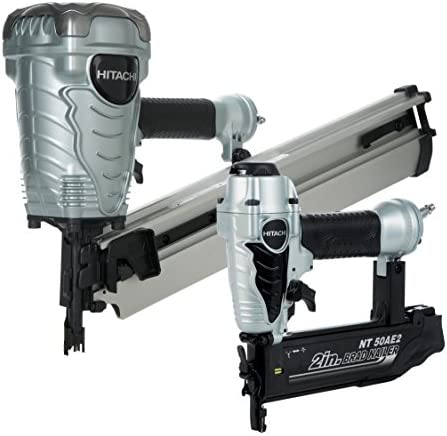 Hitachi KNR9050A Framing Nailer and Brad Nailer Combo Kit Includes NR90AE S and NT50AE2 Discontinued by manufacturer