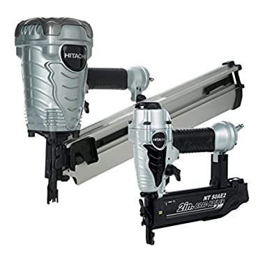Hitachi KNR9050A Framing Nailer and Brad Nailer Combo Kit (Includes NR90AE(S) and NT50AE2)