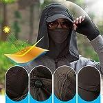 quanjucheer Capuchon de pêche, Protection UV extérieur pour Le Visage, Le Cou, la tête et la visière 9