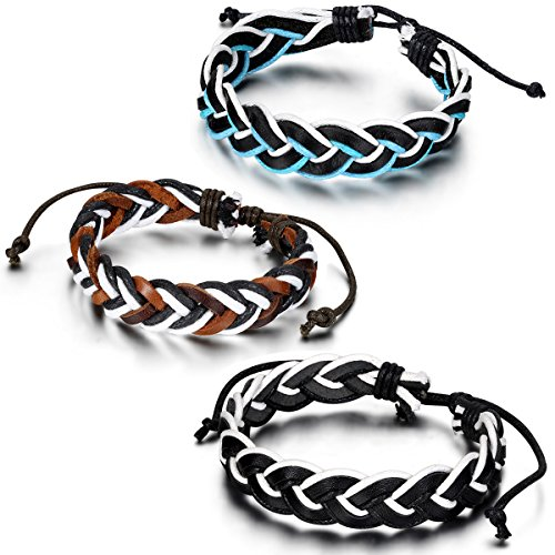 Flongo Handcrafted Braided Adjustable Bracelet