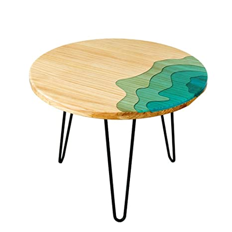 Amazon Com Haizhen Coffee Table Coffee Table Solid Wood Resin