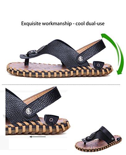 Estate Pantofole Uomo Xiaolong Spiaggia Sandali 2018 In Nuovi Da Codice Casual Pelle Da Uomo Casual Scarpe Da black Grande Aww5gZ