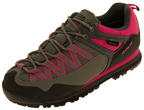 Womens Gola Waterproof Hiking Trekking Trainers Shoes Grey and Pink