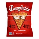 Beanfields Bean Chips, High Protein and Fiber, Gluten Free, Vegan Snack, Nacho, 1.5 Ounce (Pack of 24)