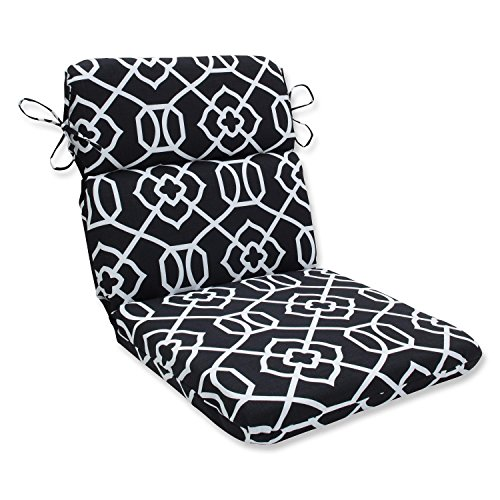 "Pillow Perfect 40.5"" Solarium Black and White Graceful La..."