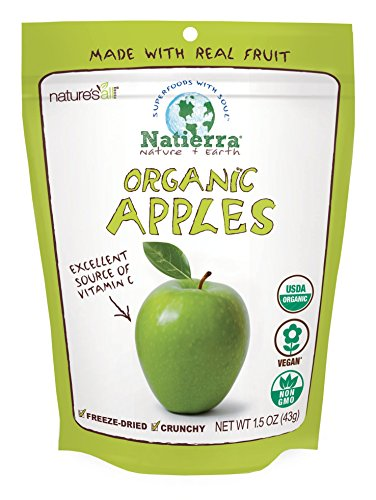 Natierra Nature's All Foods Organic Freeze-Dried and Crunchy, Apples Flavor, 1.5 Oz
