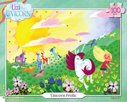 (New York Puzzle Company - Uni The Unicorn Unicorn Frolic - 100 Piece Jigsaw Puzzle)