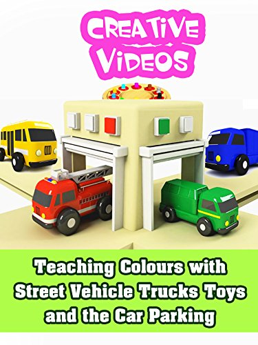 Teaching Colours with Street Vehicle Trucks Toys and the Car Parking