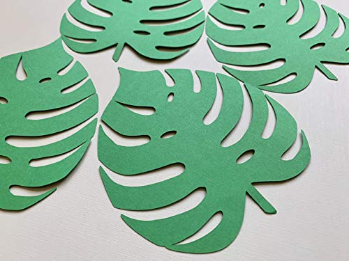 Large Tropical Palm Leaves, Cut out Leaves, Pre Cut Palm Leaf, Cardstock Leaf, Paper Leaves, Green Leaves,Jungle Leaves from Craftish Design
