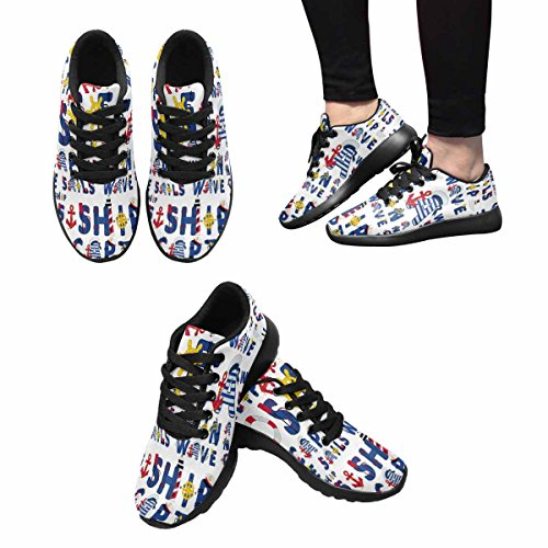 InterestPrint Womens Jogging Running Sneaker Lightweight Go Easy Walking Comfort Sports Running Shoes Multi 15 QrQRF0oTRZ