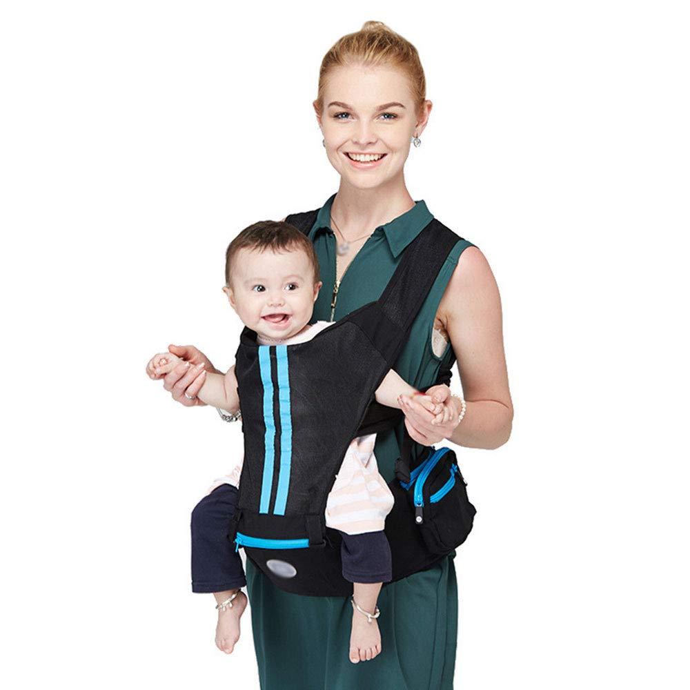 WESEASON Reise Baumwolle Babyträger Abnehmbare Baby-Träger Komfortabel Und Ergonomisch Kind Und Neugeborene Sling Multi-Position Tragen Sling Navy Blau