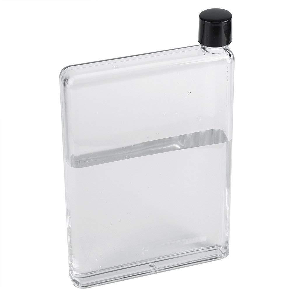 646dfd1f3599 SAIBANG Reusable Flat Plastic Water Bottle, Special Book Shape Design  Plastic Memo Flat Portable Water Bottle (420ml)