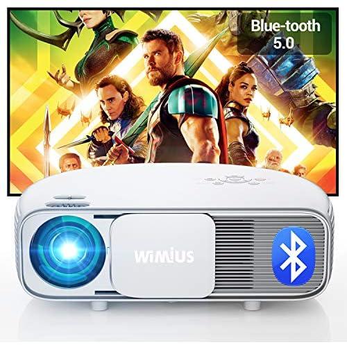 chollos oferta descuentos barato Proyector WiMiUS Proyector Bluetooth Full HD 1920x1080P Vídeoproyector Soporta 4K y Audio AC3 Proyector Cine en Casa 100 000H 300 Proyector LED para TV Stick PS4 PC HDMI AV y USB