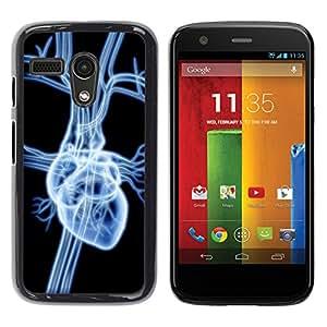 YiPhone /// Prima de resorte delgada de la cubierta del caso de Shell Armor - Heart X Ray - Motorola Moto G 1 1ST Gen I X1032