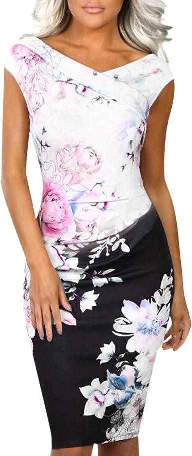 Vectry Vestidos Vestidos Casuales para Mujer Vestidos De Fiesta Largos Elegantes Moda Mujer 2019 Vestidos Verano Vestidos Largos Casual Verano Vestidos Mujer Primavera 2019: Amazon.es: Ropa y accesorios