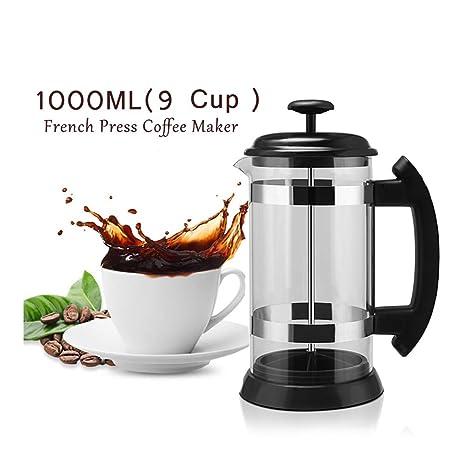 Amazon.com: MG Cafetera francesa prensa cafetera 9 tazas, 34 ...
