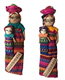 Guatemalan Worry Doll Magnets With Baby and Basket Set of 2