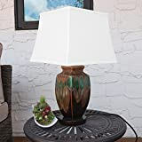 Sunnydaze Indoor/Outdoor Weather Resistant Table Lamp Multi-Colored, Ceramic