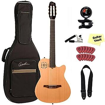 Godin multiac nailon Encore acústica eléctrica guitarra clásica con funda y set de accesorios,: Amazon.es: Instrumentos musicales
