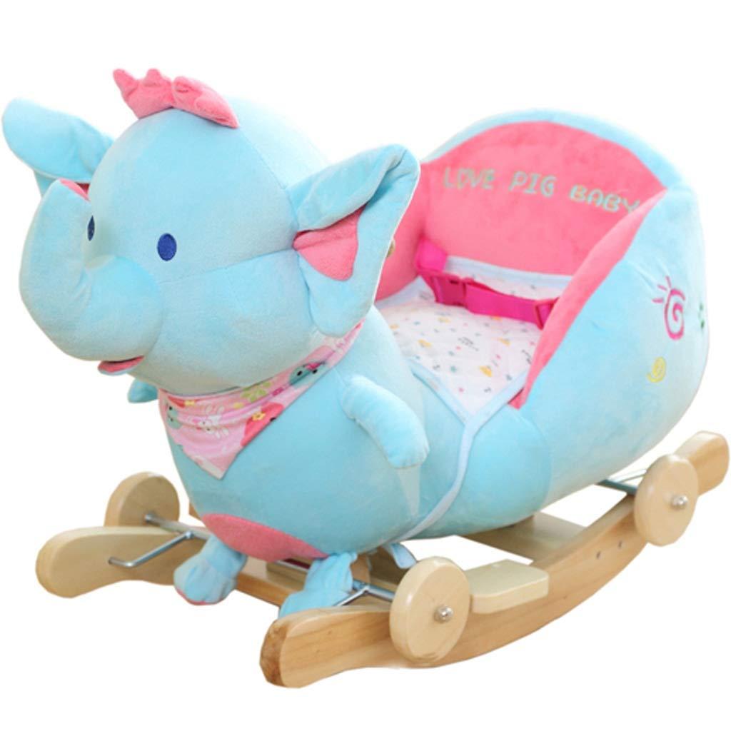【超お買い得!】 子供ロッキングホース環境保護ソリッドウッド素材ロッキングホース赤ちゃん知育玩具赤ちゃんロッキングクレードル (色 いえろ゜) : イエロー いえろ゜) B07MX1Z2TY (色 青 B07MX1Z2TY 青, メイ フェアリー:50106fa0 --- svecha37.ru