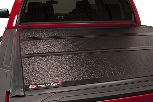BAK Industries BAKFlip FiberMax Hard Folding Truck Bed Cover 1126426 2016-18 TOYOTA Tacoma 5' With Track System Toyota Tacoma Fiberglass