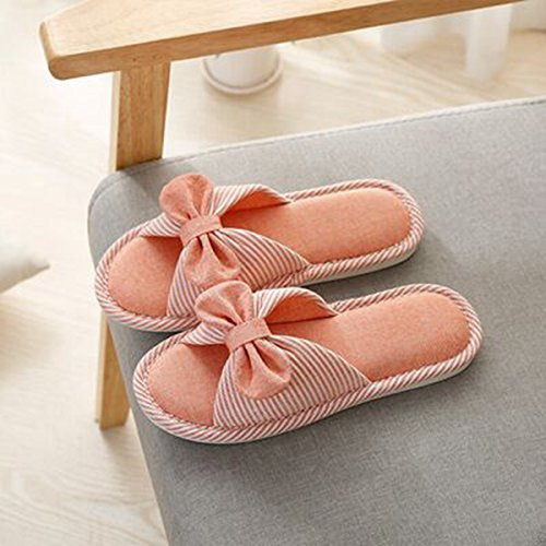 Toe Indoor House Orange Cotton Slippers Open Slip Slippers Tatami Slippers Lacavocor Flax Women's Light qvtZwxOnE