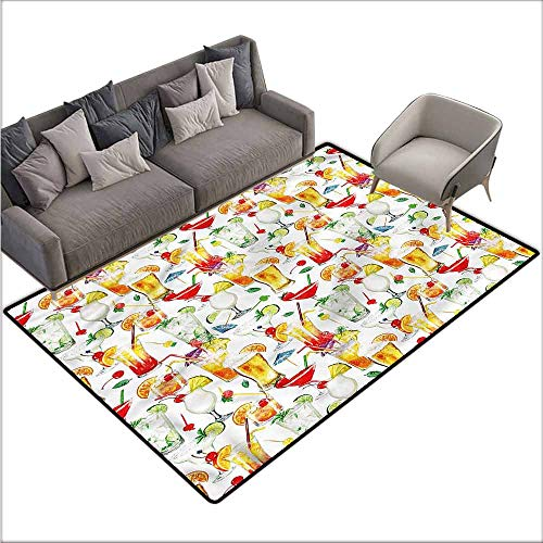 Living Room Bedroom Carpets Tiki Bar,Tropic Cocktails 64