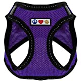 Pawtitas Pet Reflective Mesh Dog Harness Step in or Vest Harness, Comfort Control, Training Walking of Your Puppy/Dog XXS Extra Extra Small Purple Dog Harness