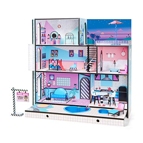 Cheap Dollhouses l o l surprise house with real wood with 85