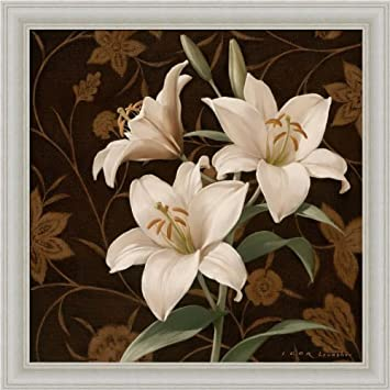 Flores Elegante IV by Igor Levashov White Tiger Lilly Traditional D ...