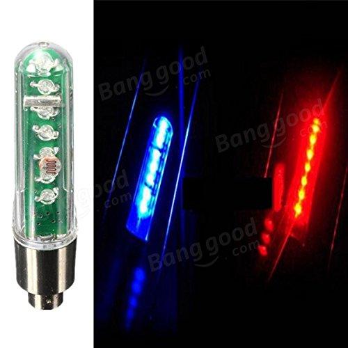 Moppi 7 LED bicicletas neumático válvula de rueda de doble sentido LED luz carta