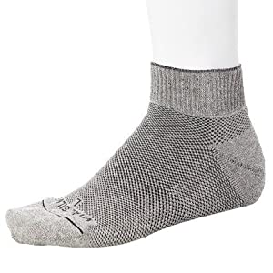 Vital Silver-Germanium/Bamboo Charcoal Seamless Circulation Diabetic Socks-short