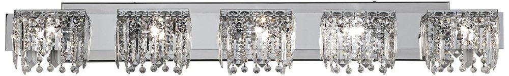 Chrome Crystal Halogen 42 1/2-Inch-W Possini Euro Bath Light by Possini Euro Design