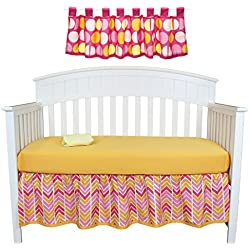 Sunshine 4 Piece Chevron Nursery Decor Set by Belle