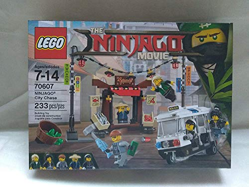 Lego The Ninjago Movie Ninjago City Chase Building Toy With Shark Army Thug, Lloyd Garmadon, Nya, Officer Toque, And Ham 233 PCS Ages 7-14 70607 New In Unopened Box
