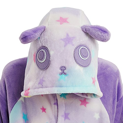 Panda Anime Pigiama Adulti Pigiami Cosplay Costumi travestimenti e Unicorno Animale camicie da Attrezzatura notte Halloween Star Monopezzi VineCrown Costume tXpdUwqU