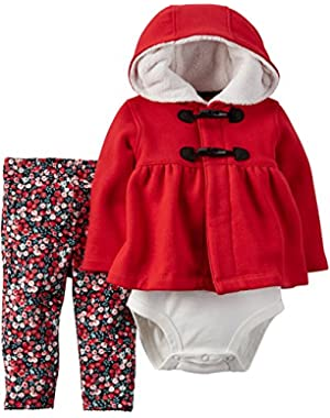 Carters Baby Girls' Toggle 3-Piece Cardigan Set (9 Months)