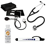 3M Littmann Cardiology Iv™ Stethoscope With Prestige Medical Aneroid Sphygmomanometer Carrying Case Pupil Gauge Quick Black