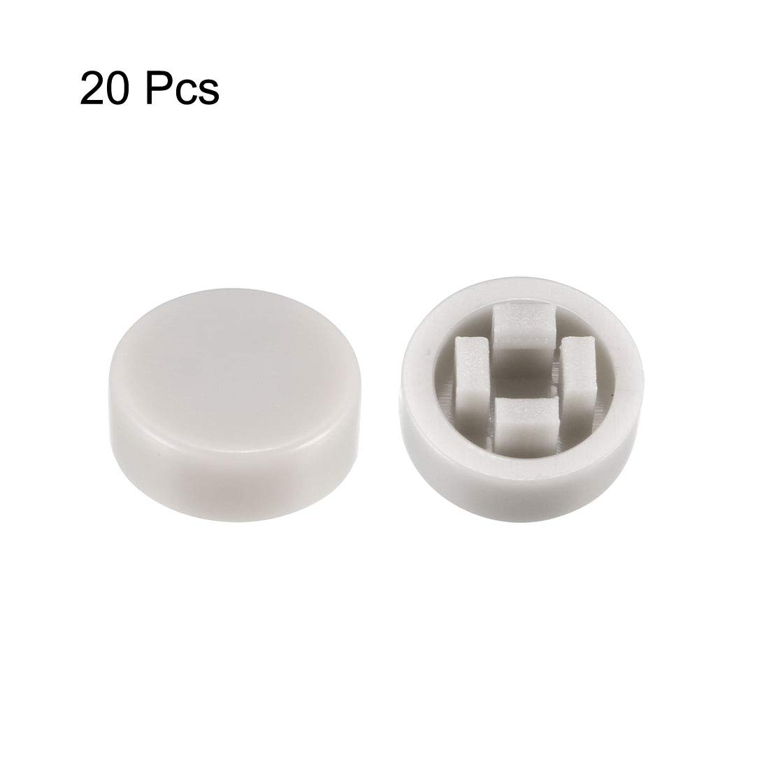 uxcell 20Pcs 3.1mm Hole Dia Plastic Push Button Tactile Switch Caps Cover Keycaps Protector Orange for 6x6 Tact Switch