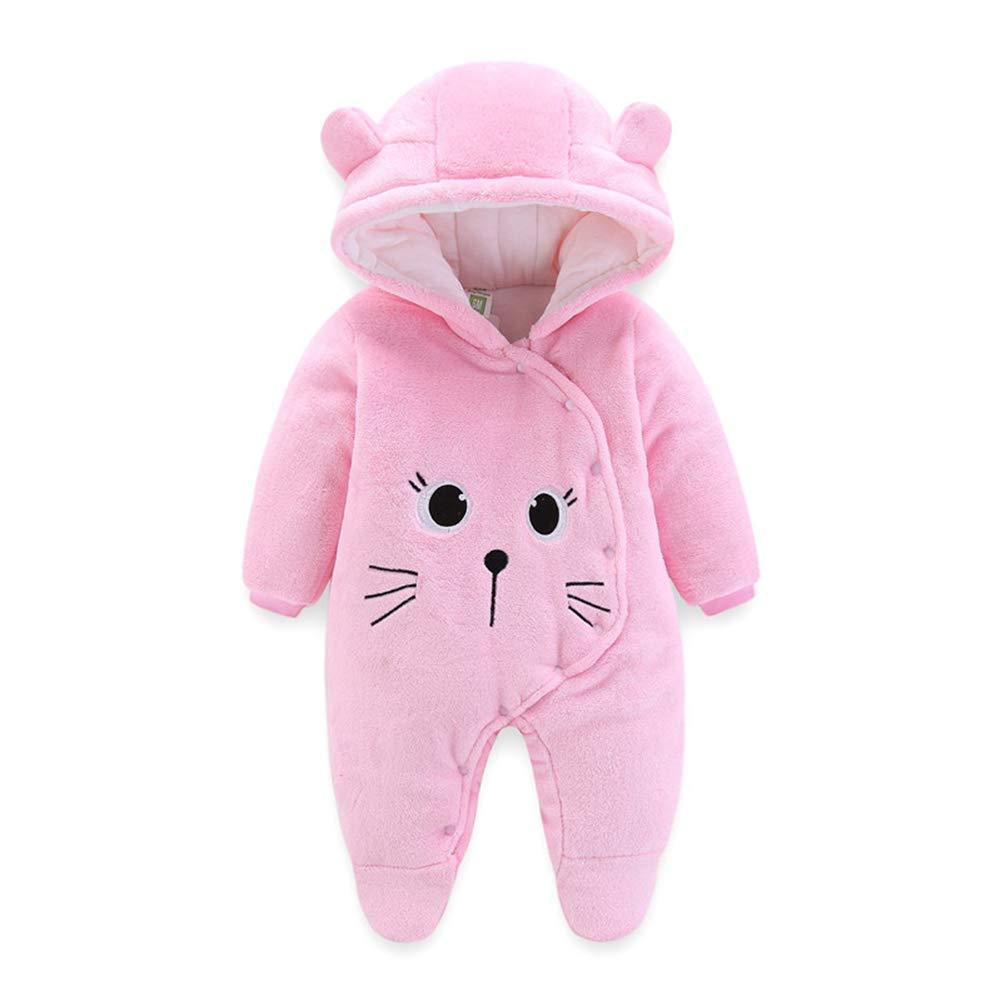 XINXINHAIHE Infant Hooded Romper Baby Girls Boys Thick Fleece Jumpsuit Outwear