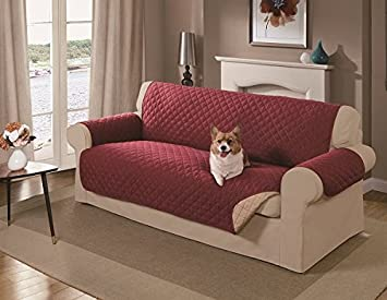 Amazoncom Mason Reversible Sofa Cover Red Pet Supplies